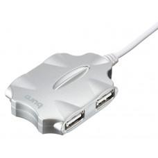 Концентратор USB 2.0 HUB Buro BU-HUB4-0.5-U2.0-Candy Silver (4xUSB2.0)