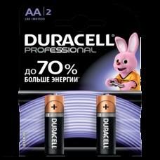 Батарейки щелочные Duracell Professional AA LR6/2BL 2шт.