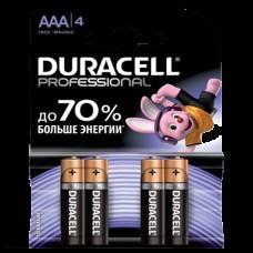 Батарейки щелочные Duracell Professional AAА LR03/4BL 4шт.