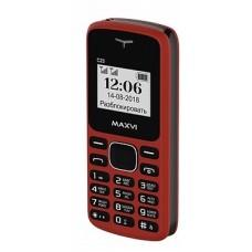 мобильный телефон Maxvi C23 red-black 2SIM без СЗУ
