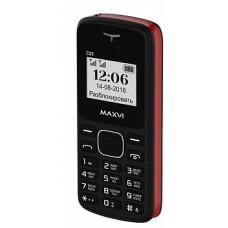 мобильный телефон Maxvi C23 black-red 2SIM без СЗУ