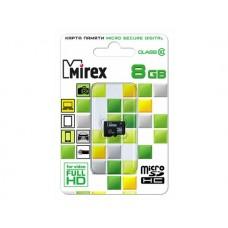 Карта памяти Mirex microSDHC 8Gb Class 10