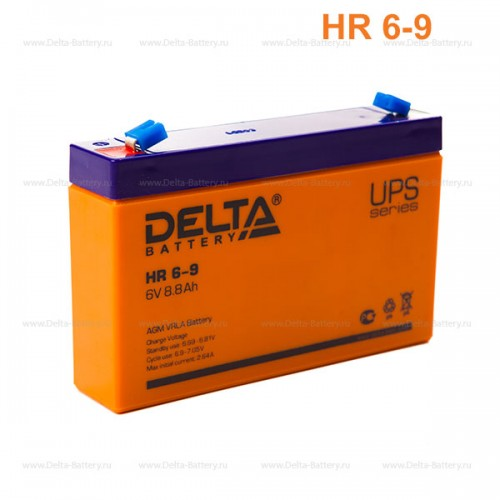Аккумулятор DELTA HR 6-9 (151x94x34мм, 1.37 кг)