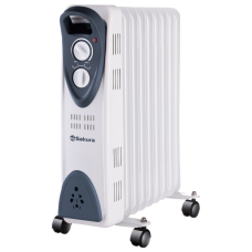 Масляный радиатор SA-0329WG (9) 2000Вт бел/сер