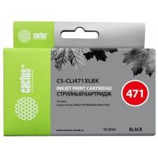 Картридж №471 CACTUS CS-CLI471XLBK для CANON TS5040/MG5740/MG6840/MG7740 черный