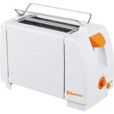 Тостер SAKURA SA-7600А  бел/оранж.