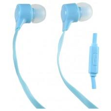 Наушники с микрофоном Внутриканальные Perfeo HANDY Голубые