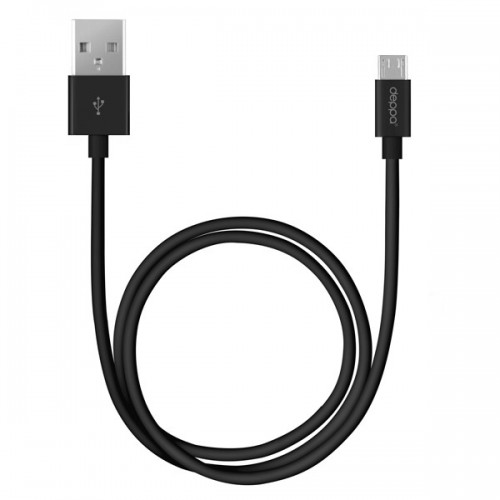 Кабель USB - microUSB 2m Deppa black 2-x сторонние коннекторы (72213)