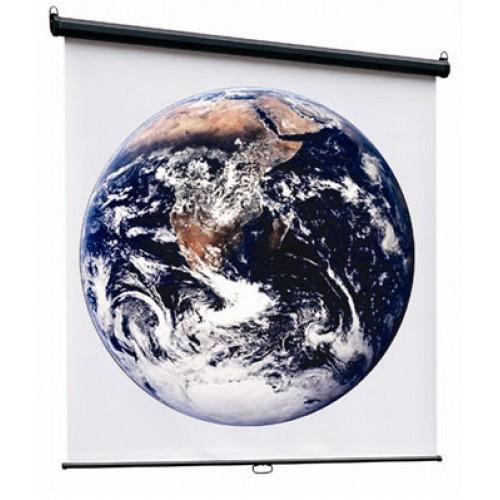 Экран Economy-P настенный подпружиненный 200x200см