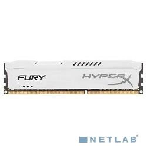 Модуль DIMM DDR3 SDRAM 8192 Мb (PC3-15000, 1866MHz) CL10 Kingston White Series (HX318C10FW/8)