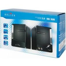 Акустическая система 2.0 Oklick OK-126 2.0 черный 6Вт портативная