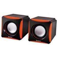 Акустическая система 2.0 Defender SPK-480, 2x2W, USB, чёрный/оранжевый