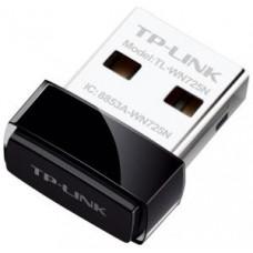 Адаптер беспроводной TP-LINK TL-WN725N (802.11n,150 Мбит/с,USB,NANO,WEP,WPA,WPA2,802.1x)