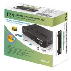 Цифровой эфирный ресивер Сигнал Т34 черный