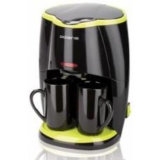 Кофеварка Polaris PCM-0210 черный/салатовый