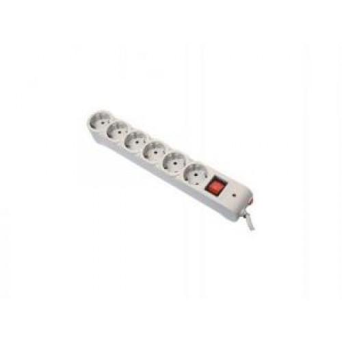 Фильтр сетевой Defender DFS-603, 3  м, 6 евророзеток, Grey (99407)