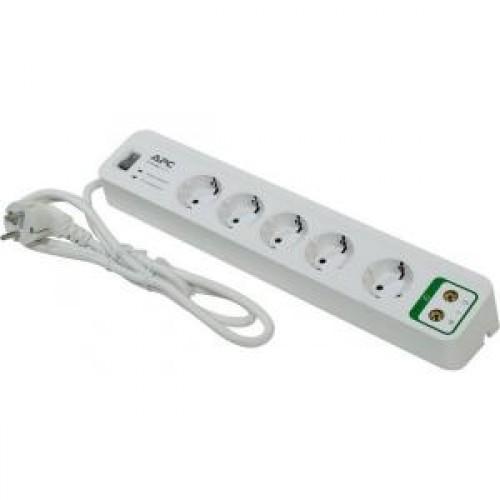 Фильтр сетевой APC 5-розеток, 1.8m, White (PM5V-RS) + защита видео линии
