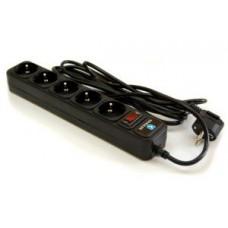 Фильтр сетевой KRAULER (5 розеток)  1.5 м (SPG3-B-5/KR-5-1.5M) black