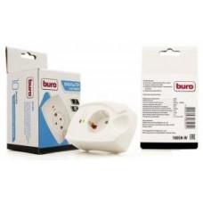 Фильтр сетевой BURO 100SH-W (1 розеток) белый (коробка)