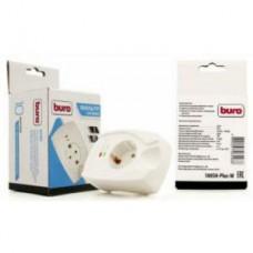 Фильтр сетевой Buro 100SH-Plus-W (1 розетка) белый