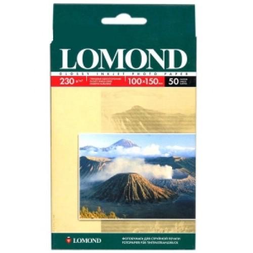 Бумага Lomond для струйной печати 10x15см, 230 г/м2,  50 листов, глянцевая (0102035)