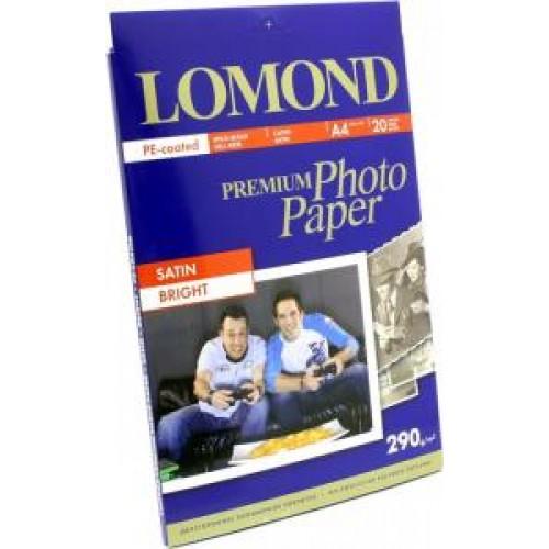 Бумага Lomond для фотопечати А4, 290 г/м2, 20 листов, Satin (1108200)