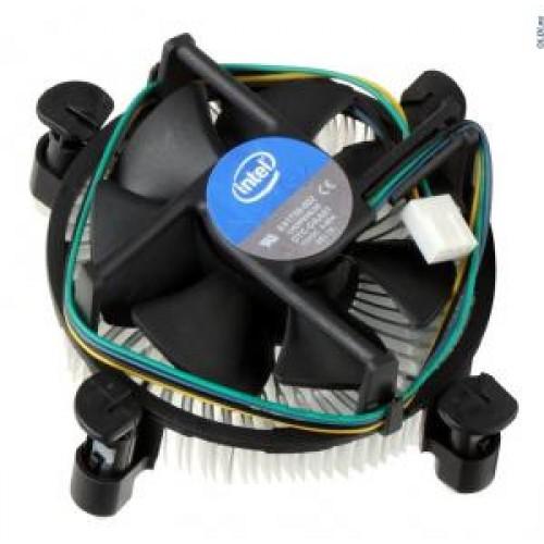 Вентилятор S 1150/1155/1156 Intel Original PWM 4pin (Al+Cu/18-38dB/105W) (клипсы)
