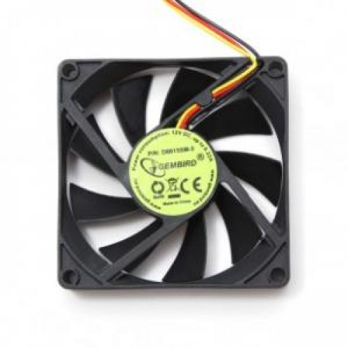 Вентилятор  80x80x25мм Gembird D8015SM-3 2600rpm, 3pin