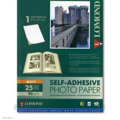 Бумага Lomond Paper, матовая A4, (25л) самоклеящаяся для струйной печати (2210003)