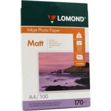 Бумага Lomond для струйной печати А4, 170 г/м2, 25 листов, матовая двусторонняя (0102032)