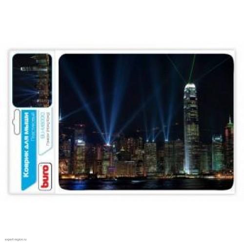 Коврик для мыши BURO BU-M80010 рисунок/Гонконг (230x180x2mm)