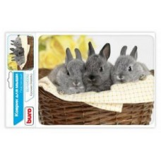 Коврик для мыши BURO BU-M40092 рисунок/кролики (230x180x3mm)