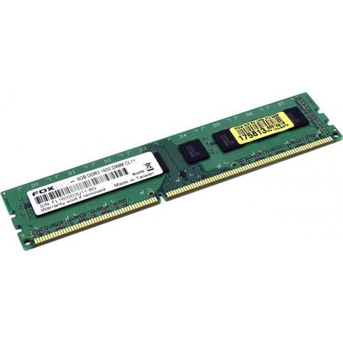 Модуль DIMM DDR3 SDRAM 8192 Мb (PC10600, 1333MHz) Foxline CL11 (FL1600D3U11-8G)