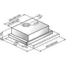 Вытяжка Elikor Интегра 60П-400-В2Л УХЛ4.2 ЗВ-400-60-260 белый/нерж