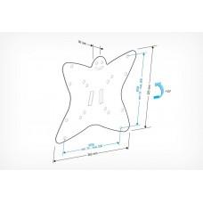 Кронштейн для Телевизоров (19-32'' до 30кг), Holder LCDS-5051 metallic