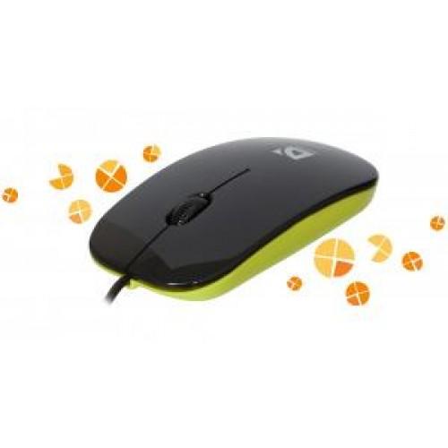 Мышь Defender NetSprinter MM-440, 1000 dpi, USB, черный/зеленый, оптическая светодиодная, 3 клавиши (52446)