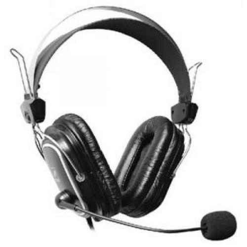 Наушники с микрофоном A4 Tech HS-60 чёрный+2 комплекта амбушюр для лета и зимы (HS-60)
