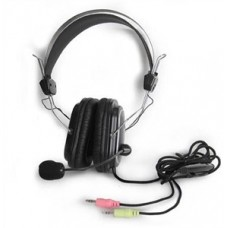 Наушники с микрофоном A4 Tech HS-50 2м чёрный 20 - 20000 Гц регулятор громкости накладные