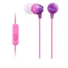Наушники с микрофоном Sony MDR-EX15APV фиолетовые
