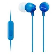 Наушники с микрофоном Sony MDR-EX15APLI синие
