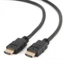 Кабель HDMI 19M-19M  0.5м ver.1.4 Gembird/Cablexpert чёрный,золотые контакты,экран (CC-HDMI4-0.5M)
