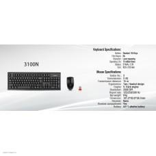 Клавиатура + мышь A4 3100N клав: черный, мышь: черный USB беспроводная