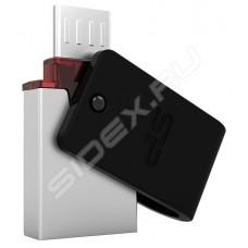 Накопитель USB 3.0 Flash Drive 64Gb Silicon Power Mobile X31, USB/microUSB, Black (SP064GBUF3X31V1K)