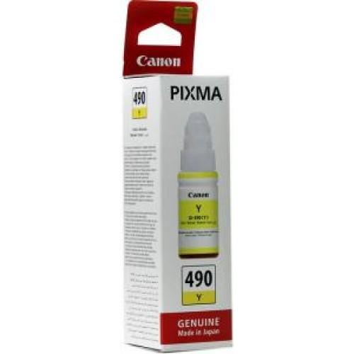 Картридж-чернильница GI-490Y Canon Pixma G1400/2400/3400 Yellow 70 мл (0666C001)