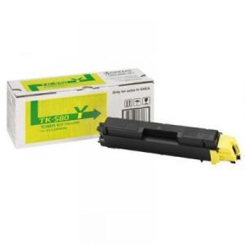 Тонер-картридж TK-580Y Kyocera FSC-5150DN/P6021cdn Yellow 2800 стр.