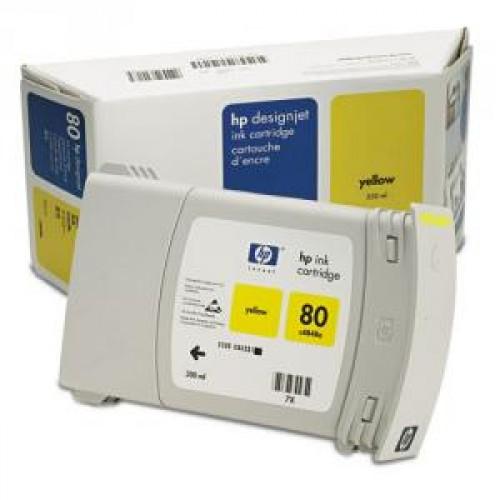 Картридж C4848A (№80) HP DesignJet 1050/1055 Yellow