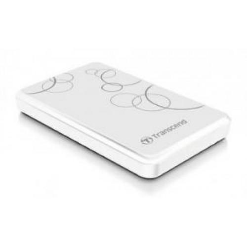 Внешний накопитель HDD 1000 Gb USB 3.0 Transcend A Series White (TS1TSJ25A3W)
