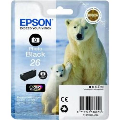 Картридж T26114010 Epson Expression Premium XP-6xx/7xx/8xx PhotoBlack