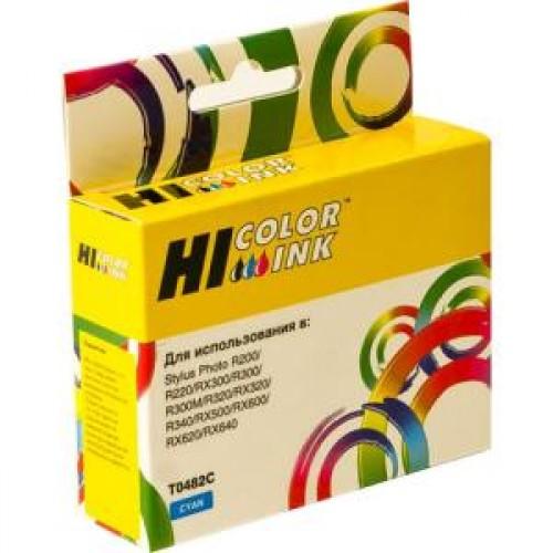 Картридж Epson Stylus Photo R200/R300/RX500/RX600 Cyan (Hi-black) new, C13T04824010