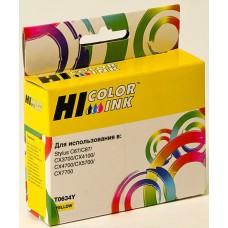 Картридж Epson Stylus C67/87/CX3700/4100/4700 Yellow (Hi-black) new, C13T06344A